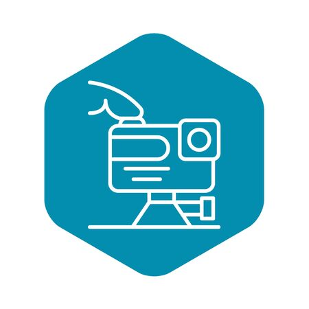 Play action camera icon, outline style