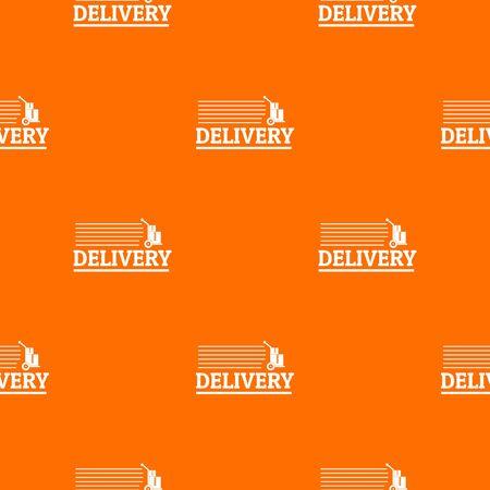 Delivery post pattern vector orange Ilustração