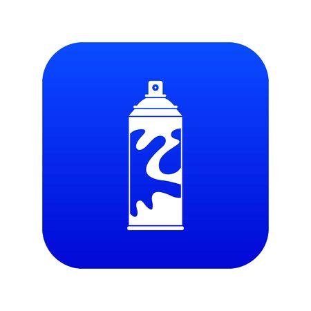 Colored spray icon digital blue Illustration