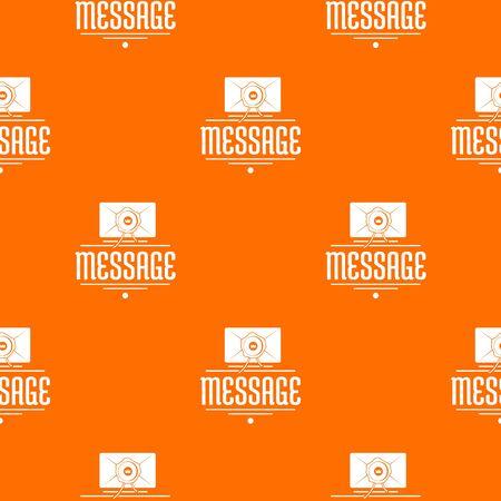 Message pattern vector orange