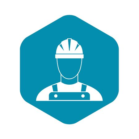 Builder icon in simple style on a white background vector illustration  イラスト・ベクター素材