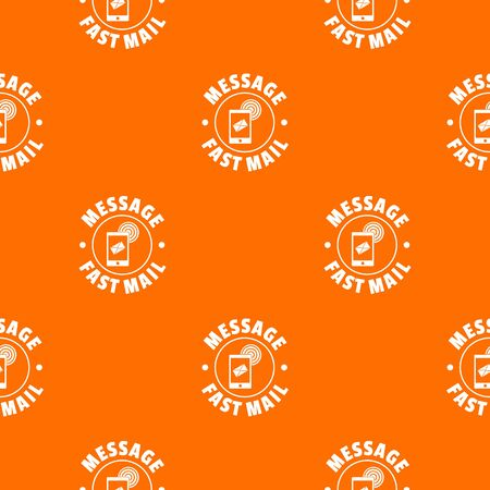 Fast mail pattern vector orange