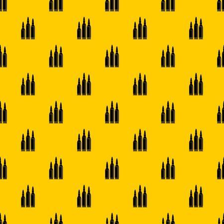 Balle de munitions vectorielle continue motif jaune géométrique répéter pour toute conception Vecteurs