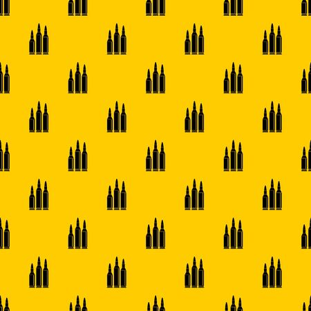 Bullet ammunition pattern seamless vector repeat geometric yellow for any design Illustration
