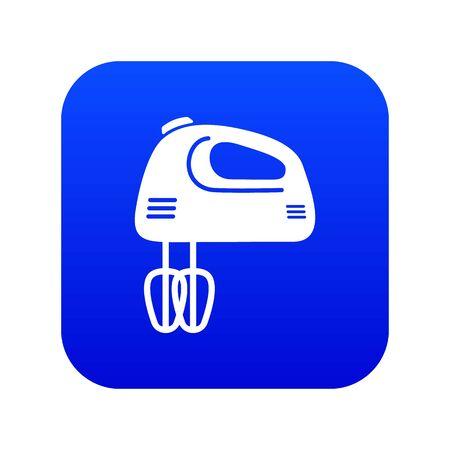 Mixer kitchen icon blue vector isolated on white background Illustration
