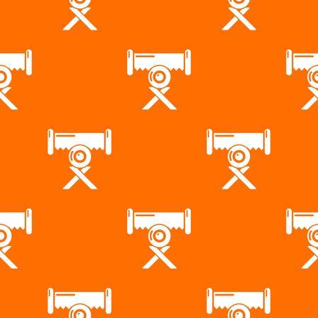 Cutting saw pattern vector orange