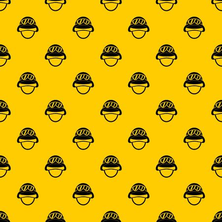 Military metal helmet pattern vector