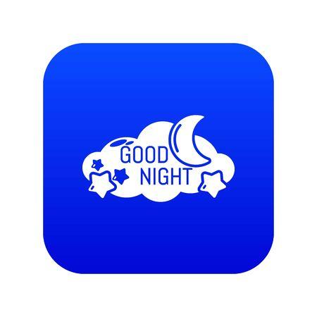 Sleep icon blue vector
