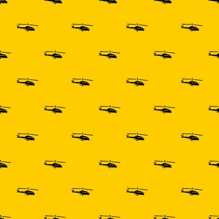 Military helicopter pattern seamless vector repeat geometric yellow for any design