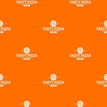 Pizza meat pattern vector orange