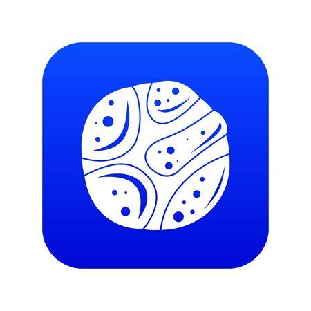 Deserted planet icon digital blue Ilustrace