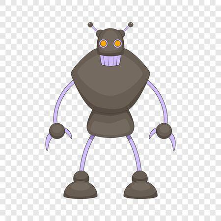 Robot warrior icon, cartoon style Illustration