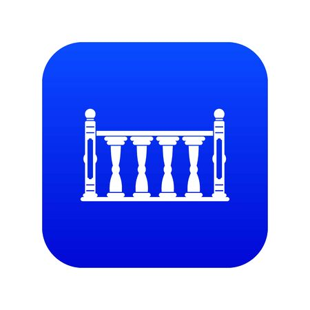 Balustrade icon digital blue