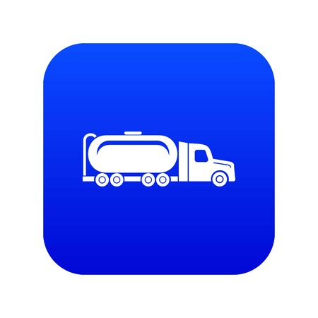 Truck oil icon blue vector isolated on white background Ilustração