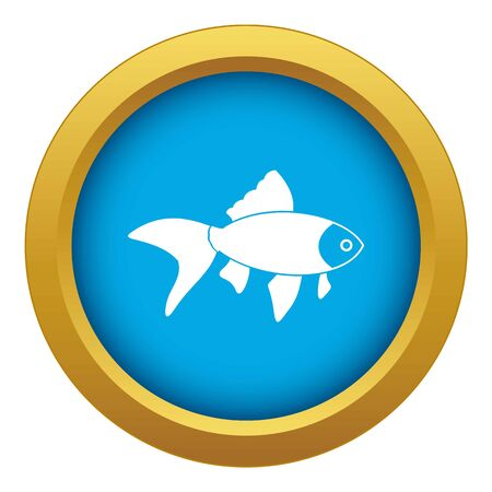 Fish icon blue vector isolated on white background for any design