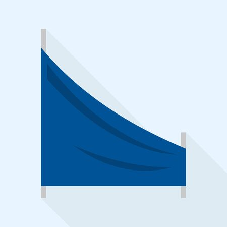 Track ski flag icon. Flat illustration of track ski flag vector icon for web design