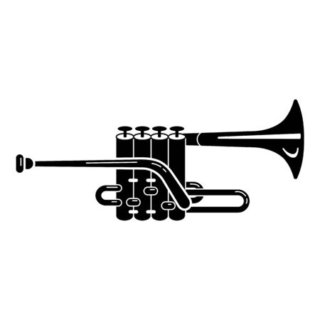 Music trumpet icon. Simple illustration of music trumpet vector icon for web design isolated on white background