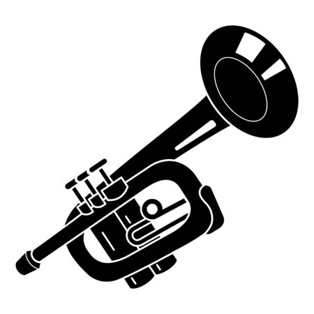 Alarm trumpet icon, simple style