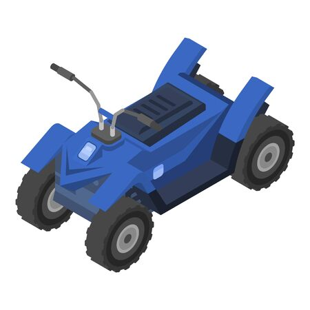 Sport quad bike icon, isometric style Illustration