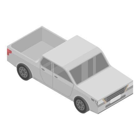 American pickup icon, isometric style