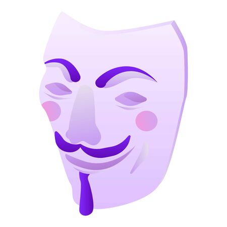 Hacker mask icon, isometric style Vectores