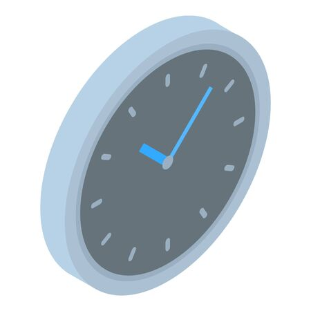 Wall clock icon. Isometric of wall clock vector icon for web design isolated on white background  イラスト・ベクター素材
