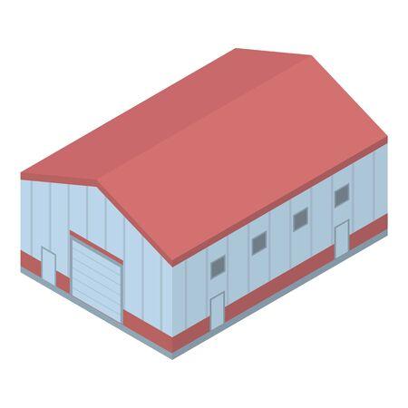 Marine port warehouse icon. Isometric of marine port warehouse vector icon for web design isolated on white background