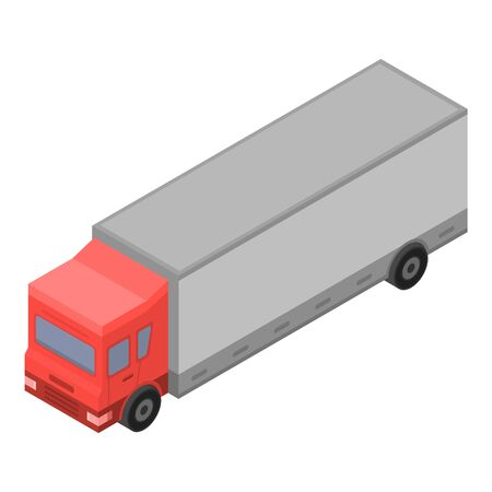 European truck icon. Isometric of european truck vector icon for web design isolated on white background