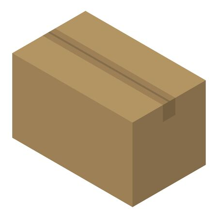 Delivery parcel icon. Isometric of delivery parcel vector icon for web design isolated on white background Illustration