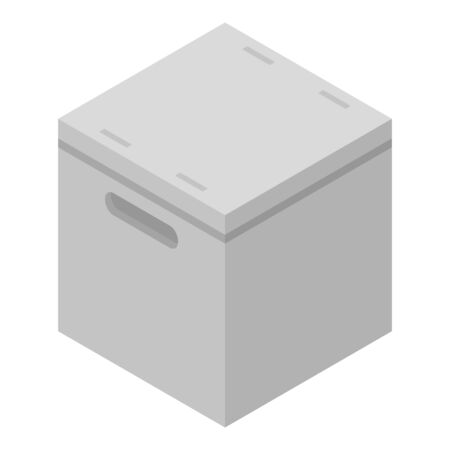 Cube parcel box icon. Isometric of cube parcel box vector icon for web design isolated on white background Illustration