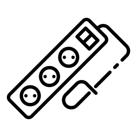 Tripled wire socket icon, outline style