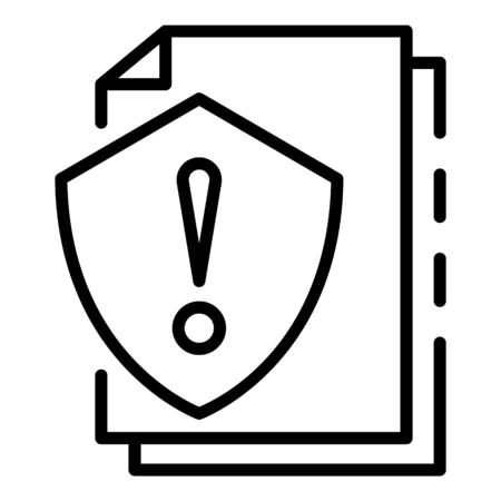 Attention papers protect icon, outline style