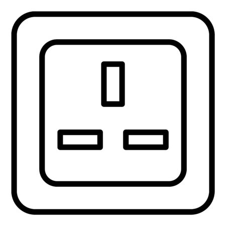 England socket icon. Outline england socket vector icon for web design isolated on white background  イラスト・ベクター素材