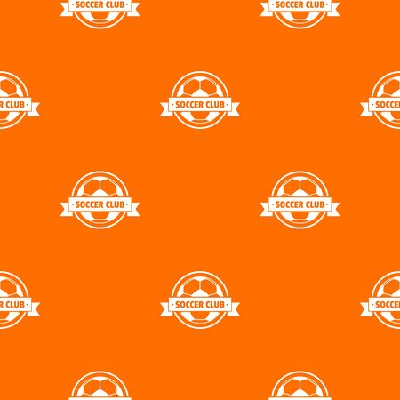 Soccer pattern vector orange