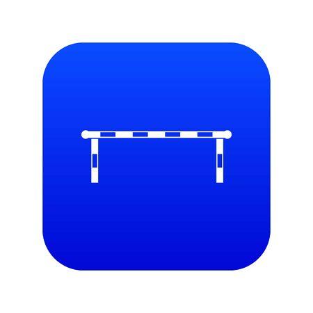 Striped barrier icon digital blue Ilustrace