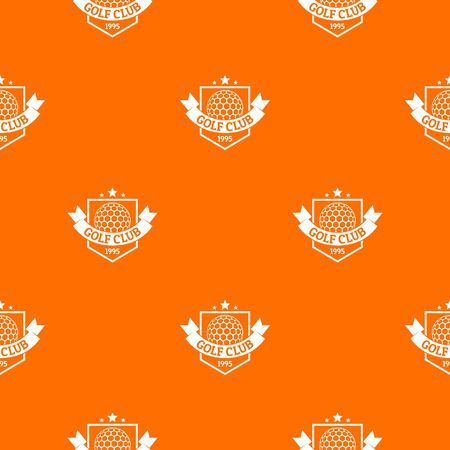Golf pattern vector orange