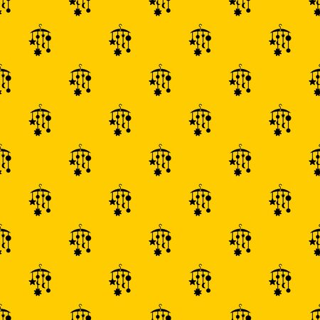 Baby bed carousel pattern seamless vector repeat geometric yellow for any design