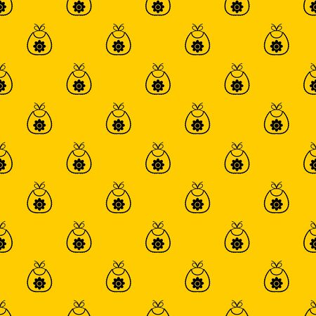 Baby bib pattern seamless vector repeat geometric yellow for any design