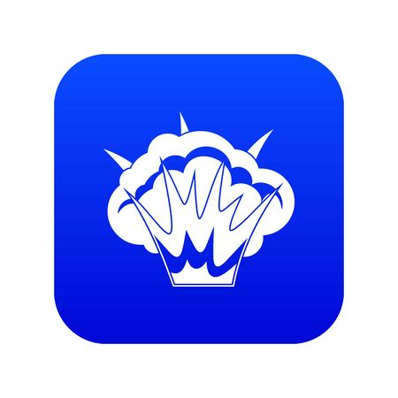 Projectile explosion icon digital blue