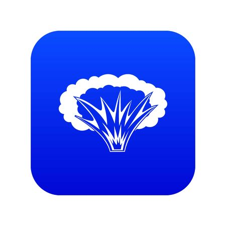 Atomical explosion icon digital blue