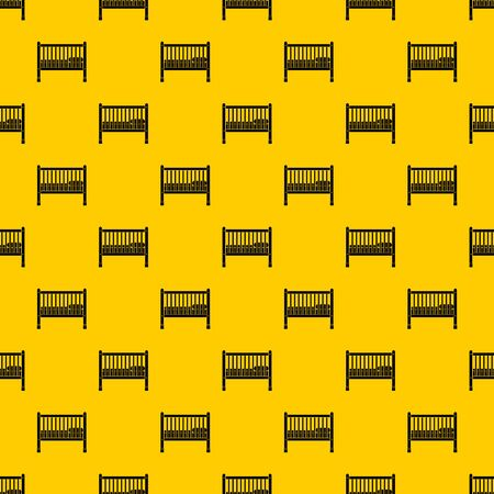 Baby bed pattern seamless vector repeat geometric yellow for any design