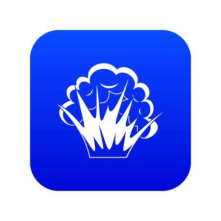 Flamme et fumée icône bleu numérique Vecteurs