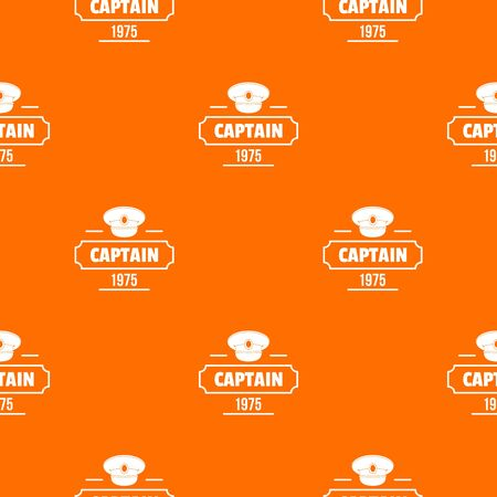Captain pattern vector orange Illustration