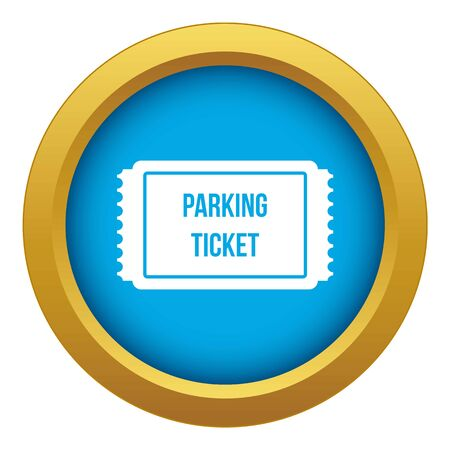 Parking ticket icon blue vector isolated on white background for any design