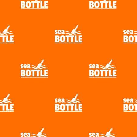 Sea bottle pattern vector orange Vectores