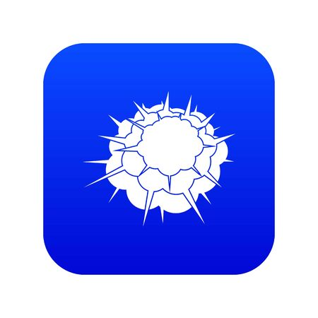 Atomic explosion icon digital blue