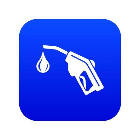 Gas pistol icon blue vector Illustration