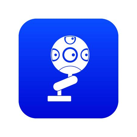 Game device icon digital blue