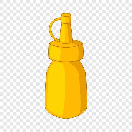 Bottle of mustard icon, cartoon style Illustration