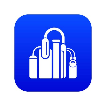 Factory icon blue vector